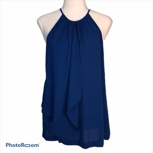 VINCE CAMUTO SLEEVELESS DRAPED CAMI TOP S